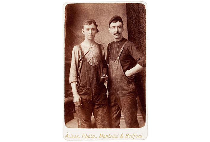 This Albumen Carte De Visite Was Made By The GC Arless Studio Which Operated In Montreal And Bedford Quebec Image Depicts Two Men Dressed Work